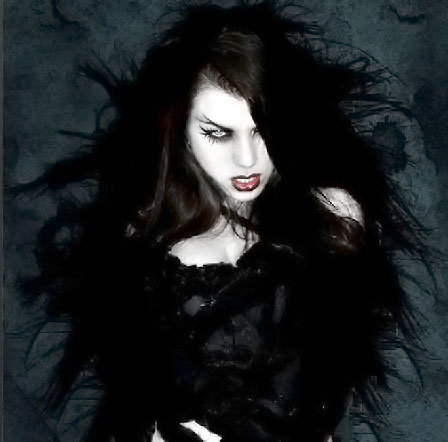 A female part-vampire